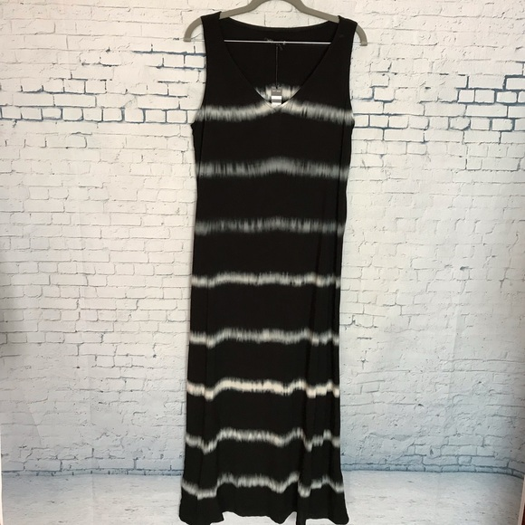 Max Jeans Dresses & Skirts - Womens Maxi Dress M Black White Tie Dye Max Jeans